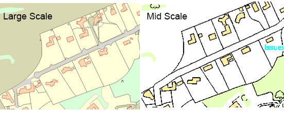Ordnance Survey Mapping and Data mid scale example
